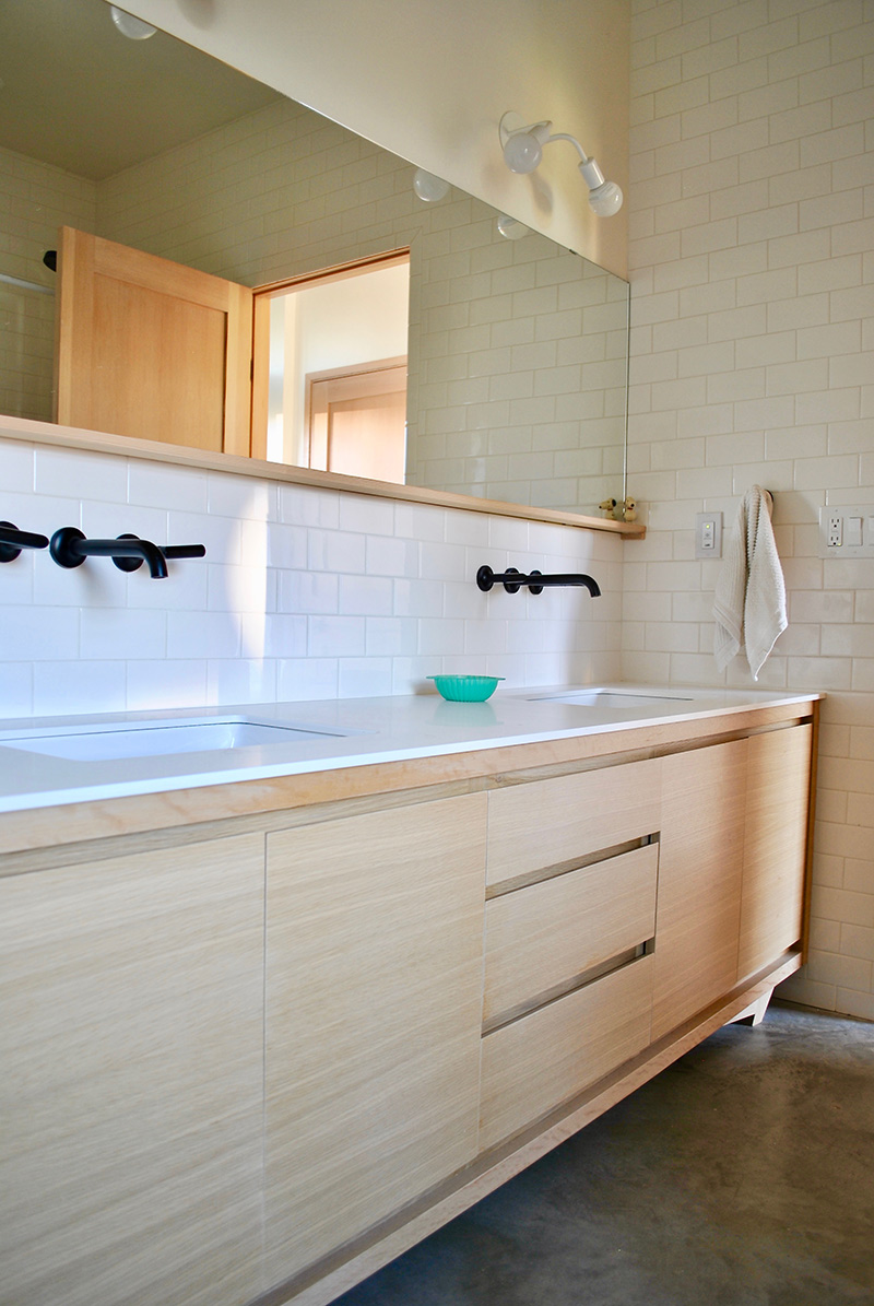 A Double Sink Was A Must Have For Us (trust Me, It Will Save Your  Marriage). This Hand Built Rift Sawn White Oak Vanity Was Built By Our  Friend, ...